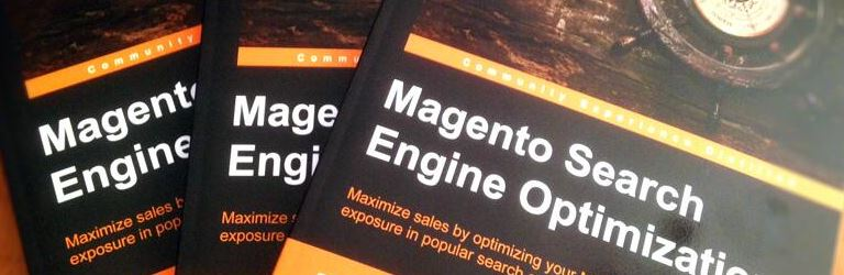 magento search engine optimization three books stacked