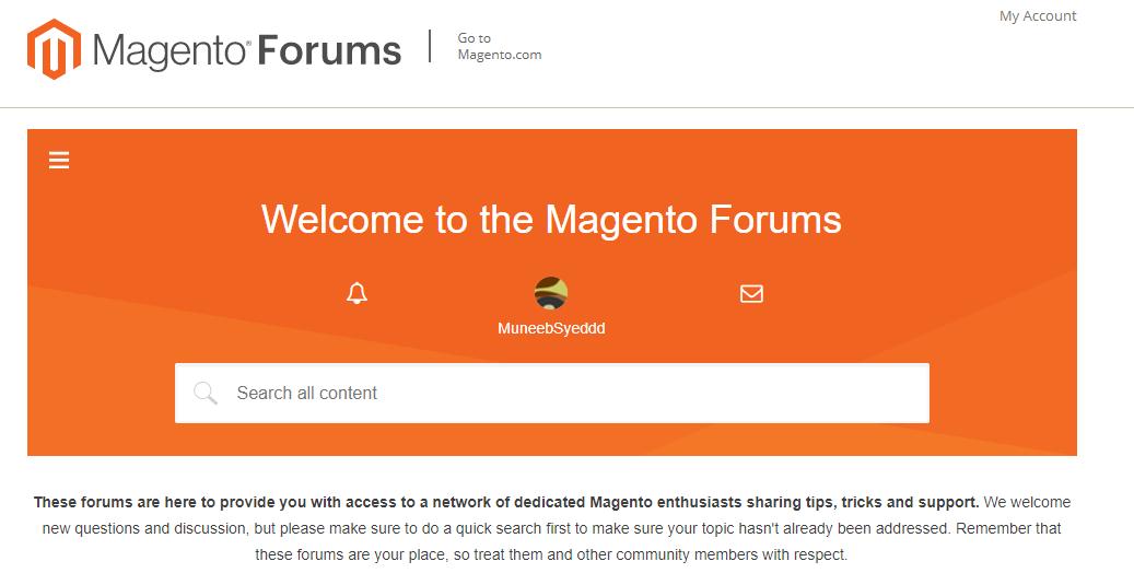 Magento community Forum