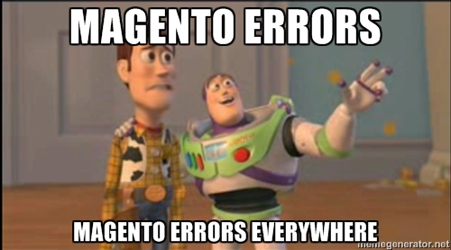Magento Errors