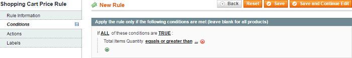 magento rule condition