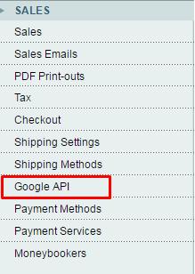 Click google API