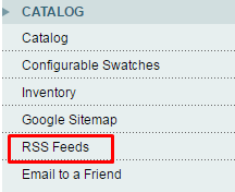 Catalog -> RSS Feeds
