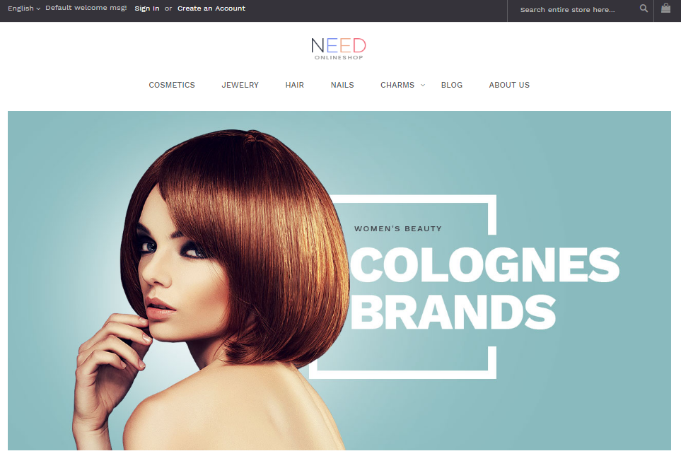 VES NEED -Free Premium Magento 2 Template favorite for beauty and health
