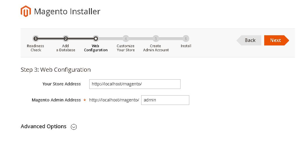 web configuration