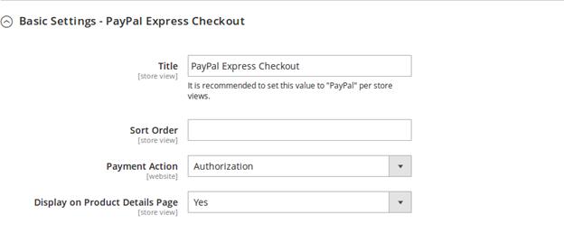 Baisc Paypal Checkout