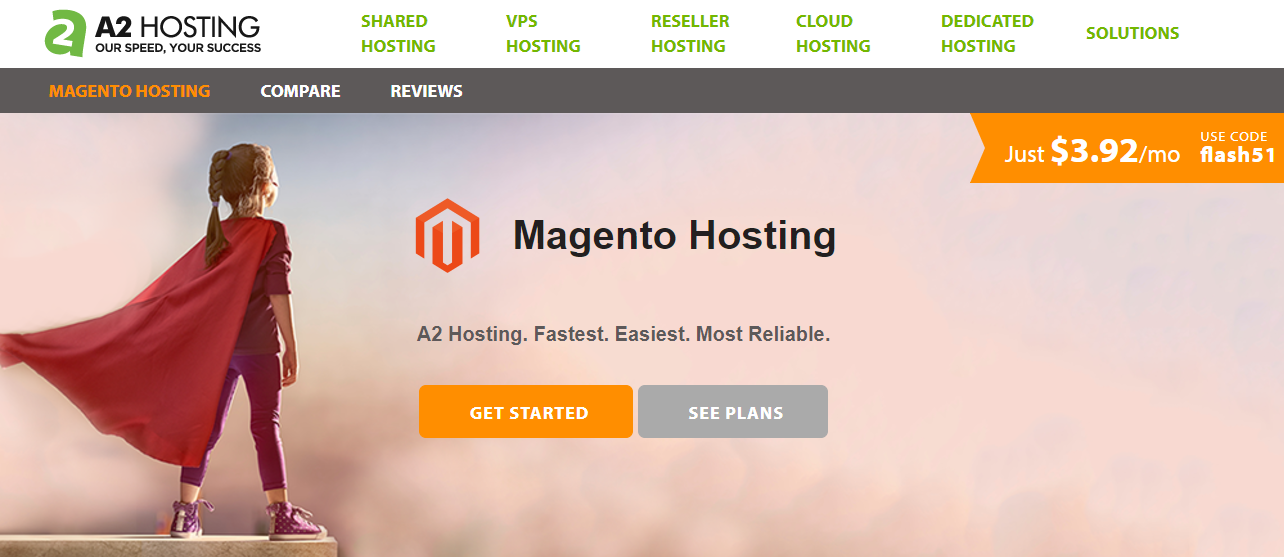 A2 Magento shared hosting