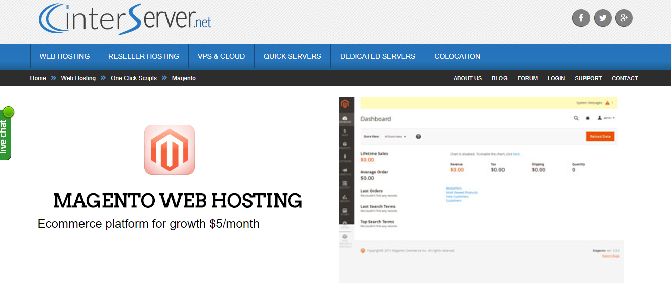 inter server shared hosting