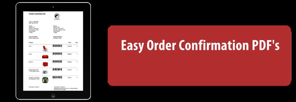 Order Confirmation PDF