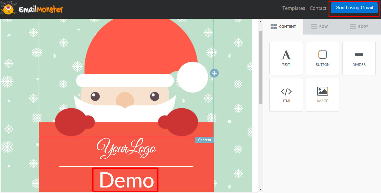demo- send using gmail