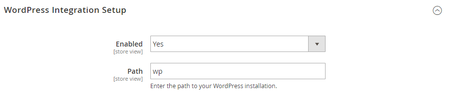wp integration setup