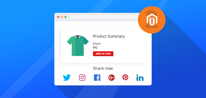 social share buttons in Magento 2