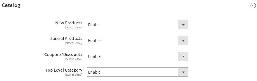 enable catalog feed