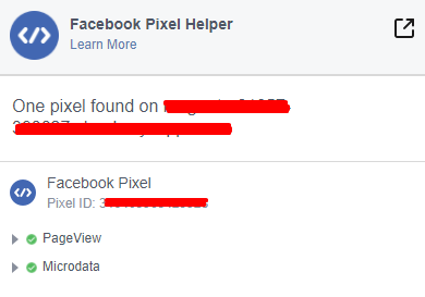output facebook pixel m2