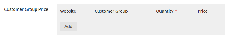 customer group special price Magento 2
