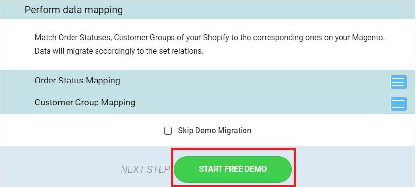 start free demo click