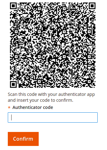 Magento 2 two factor authentication result