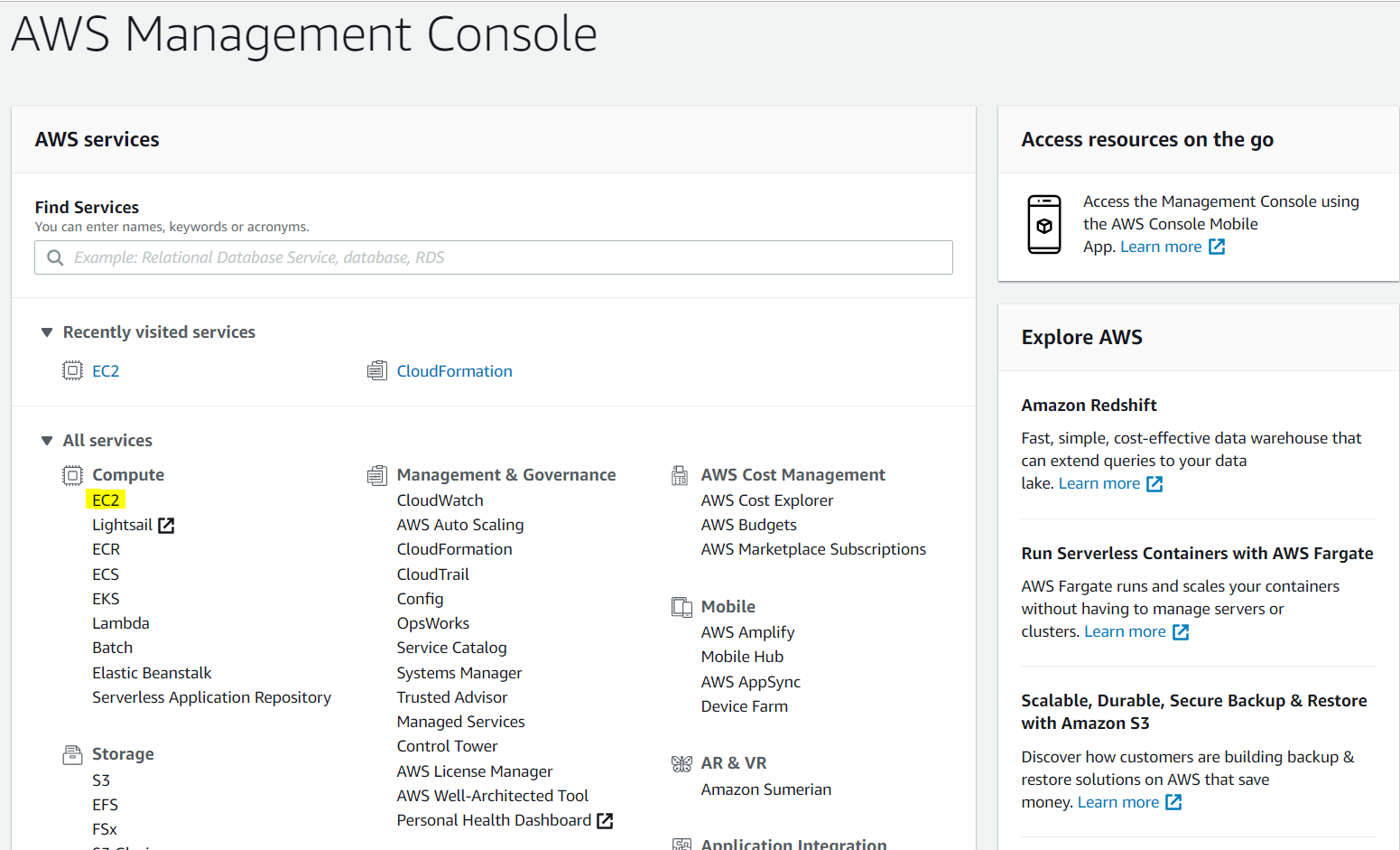 Amazon Developer Console