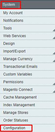 Magento 1 system-config