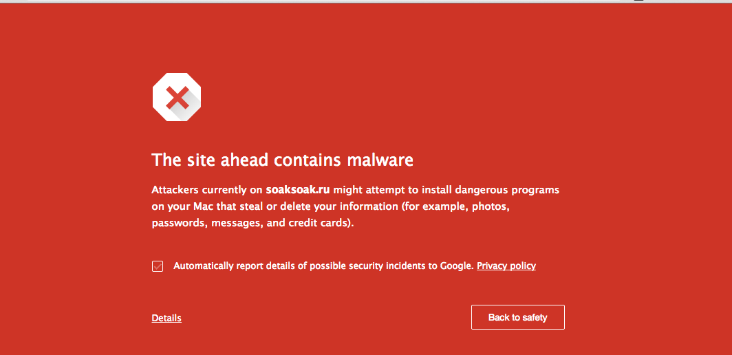 Site Blacklisted For Malware
