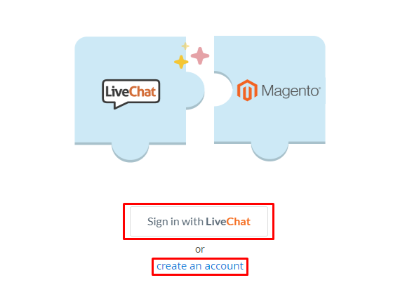 sign in live chat magento 2