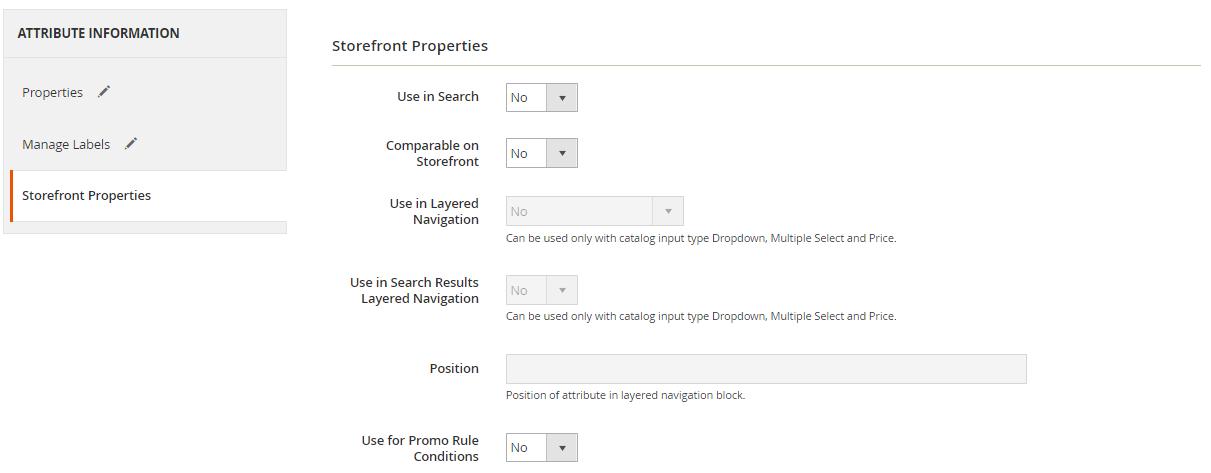 storefront properties magento 2