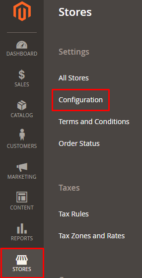 stores-config Magento 2 Sitemap