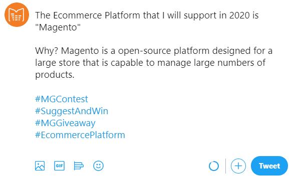 Contest twitter sample